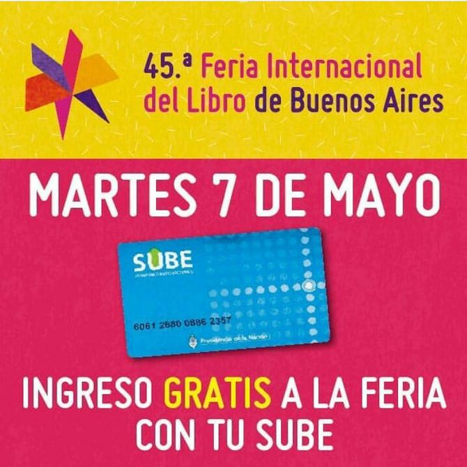 Hoy, con tu tarjeta Sube, entras gratis a la Feria del Libro.