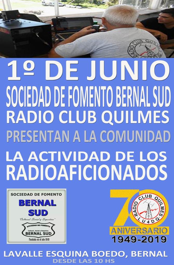 El Radio Club Quilmes en la Sociedad de Fomento Bernal Sud