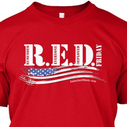 R.E.D. Friday shirt (Hallelujah on back!)