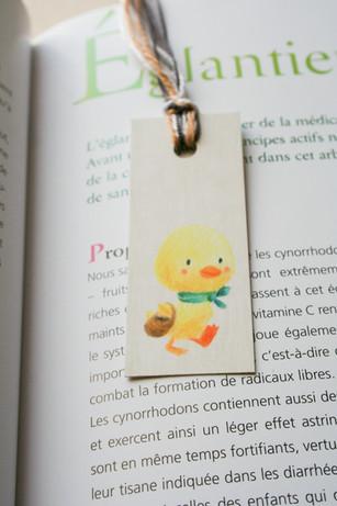Mini marque-page illustré Caneton
