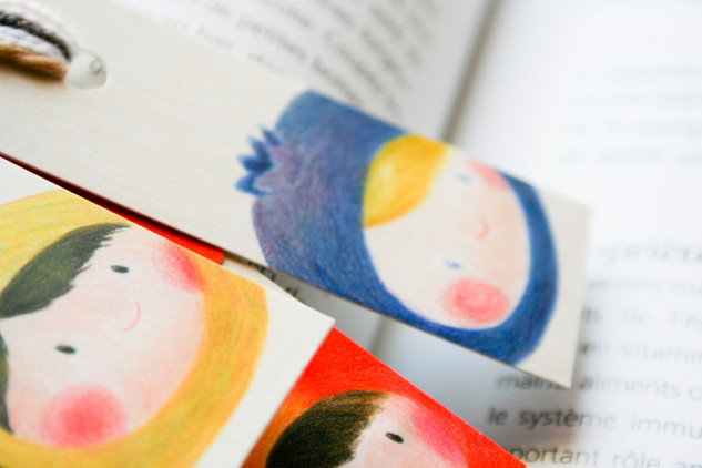 Petits marque-page fruits // Fruit Kids Bookmarks