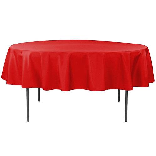 Round Red Linen