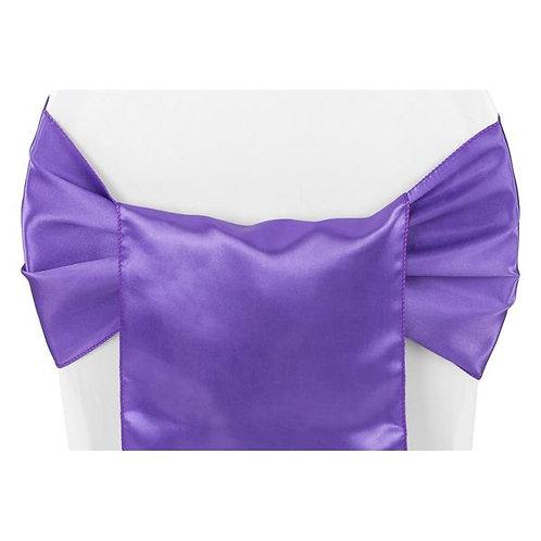 Chair Sash - Purple Satin