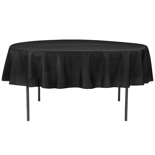 Black Round Linen (120 Inches)