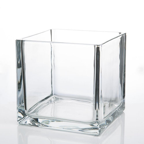 Glass Vases : Large Square Cubes