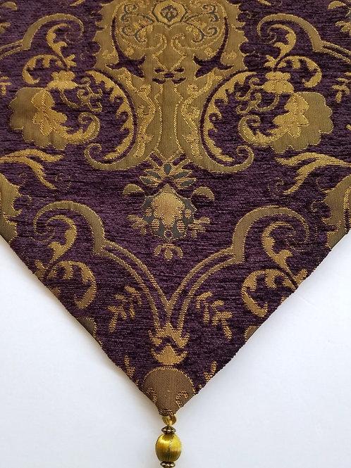 Purple & Gold Paisley Runner