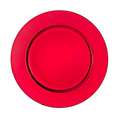 Red Charger Plates