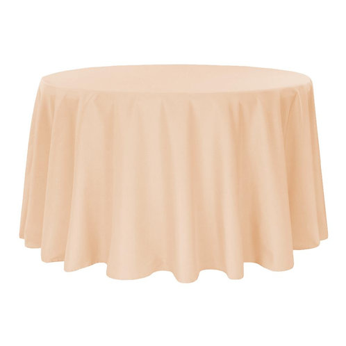 Champagne Round Overlay Linen