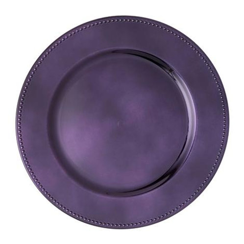 Purple Charger Plates