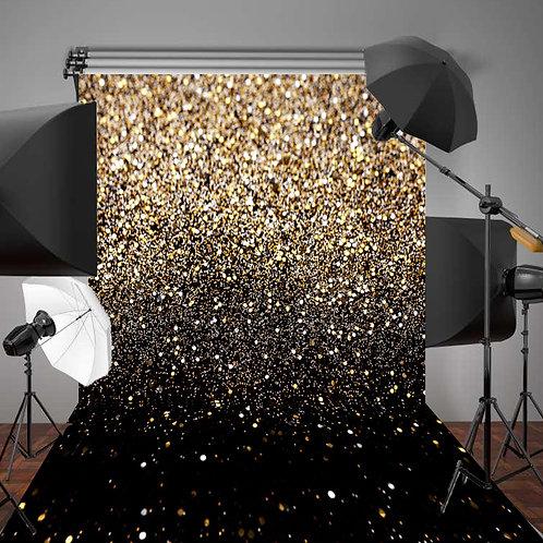 Gold & Black Fabric Background