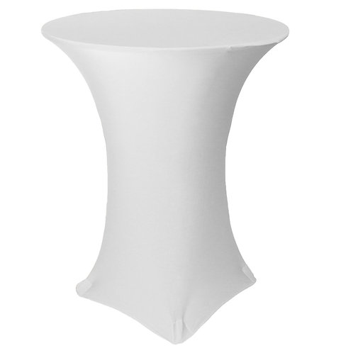 30 Inch White Stretch High Top Linen