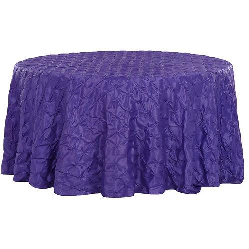 Purple Round Linen