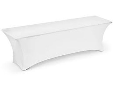 6 ft White Stretch Rectangle