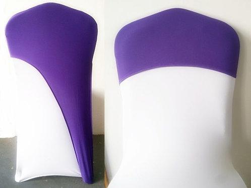 Purple Half-Cap Stretch Chair Cover