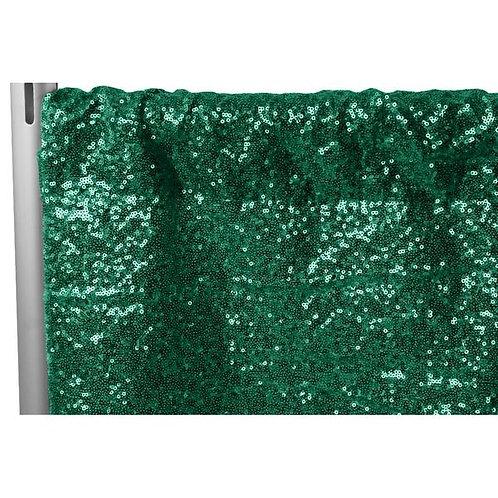 Green Sequin Pipe & Drape