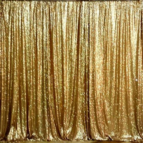 Pipe & Drape - 2x8 Gold Sequin