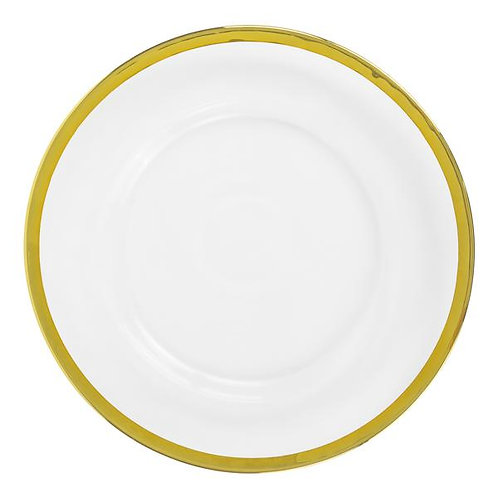 Clear Charger Plates - Gold Trim