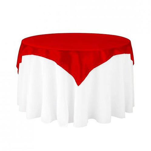 Red Square Overlay Linen