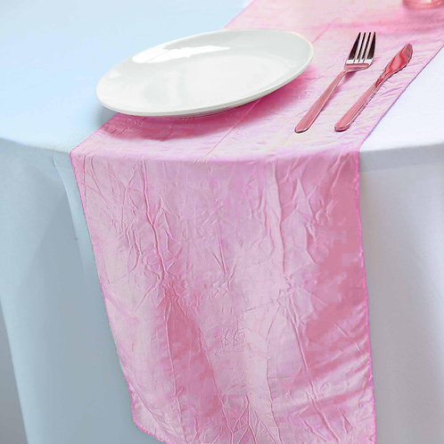 Pink Taffeta Runner