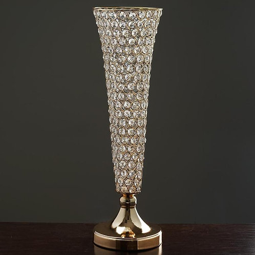 Crystal & Gold Centerpieces - 24 Inches