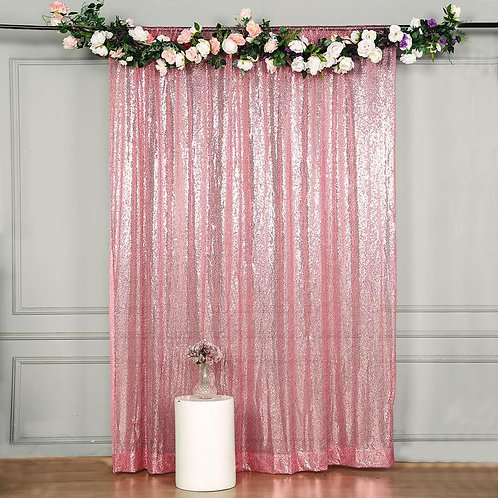 Pink & Drape Background - 2x8 pink Sequin