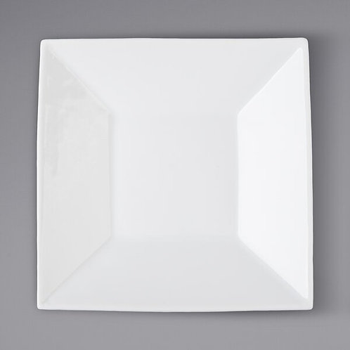 White Square Saucer Plates