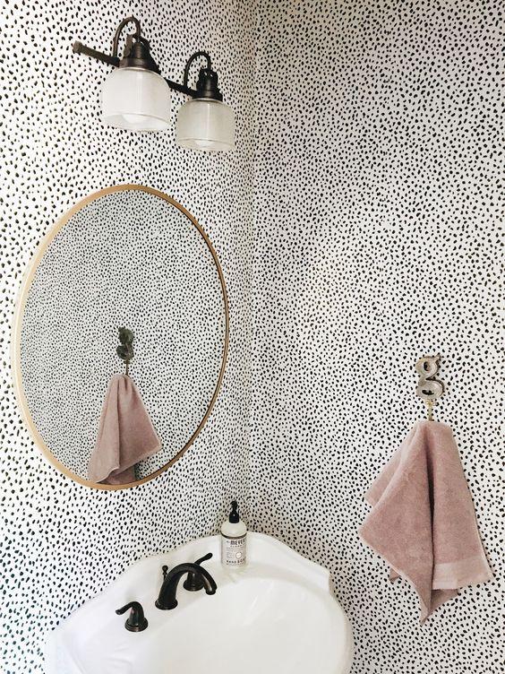 Bathroom decor, wallpaper bathroom, bathroom decor ideas