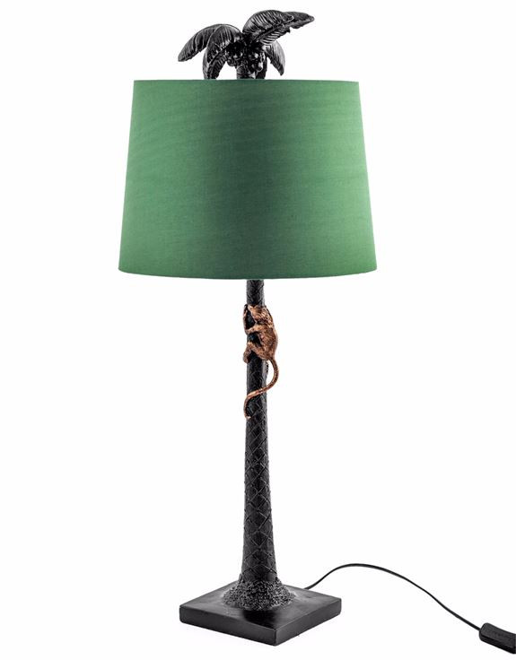 Quirky trendy home accessories  monkey palm tree lamp