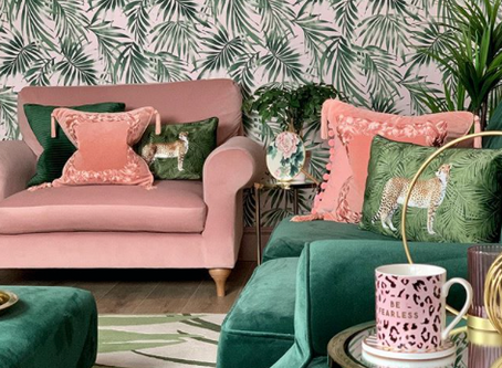 HOW TO STYLE PINK & GREEN DECOR