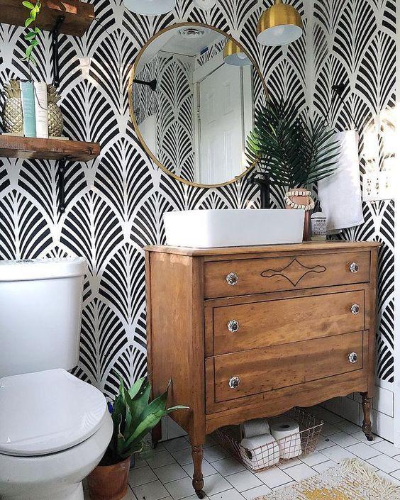 wallpaper bathroom ideas