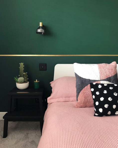 pink and green bedroom decor, home inspiration, home decor