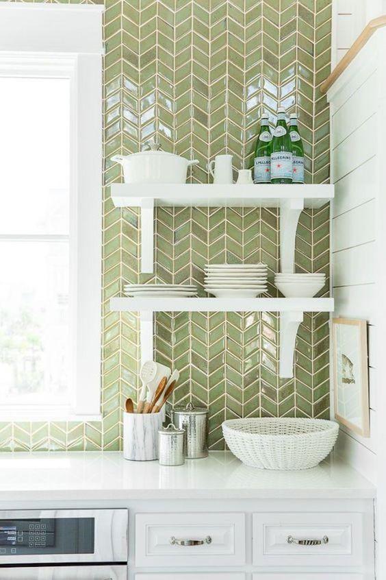 home decor blog, interior decor, kitchen decor, kitchen tiles, green tiles