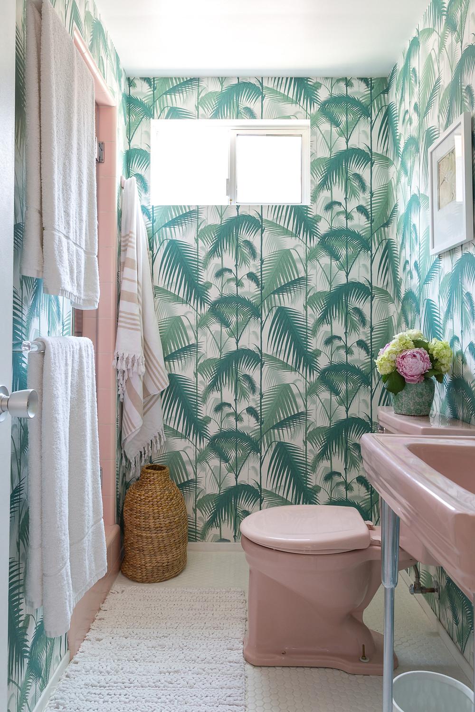 wallpaper bathroom, wallpaper decor ideas