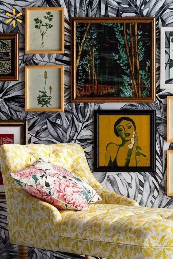 home decor blog, interior styling inspiration, wallpaper decor. colourful trendy wallpaper