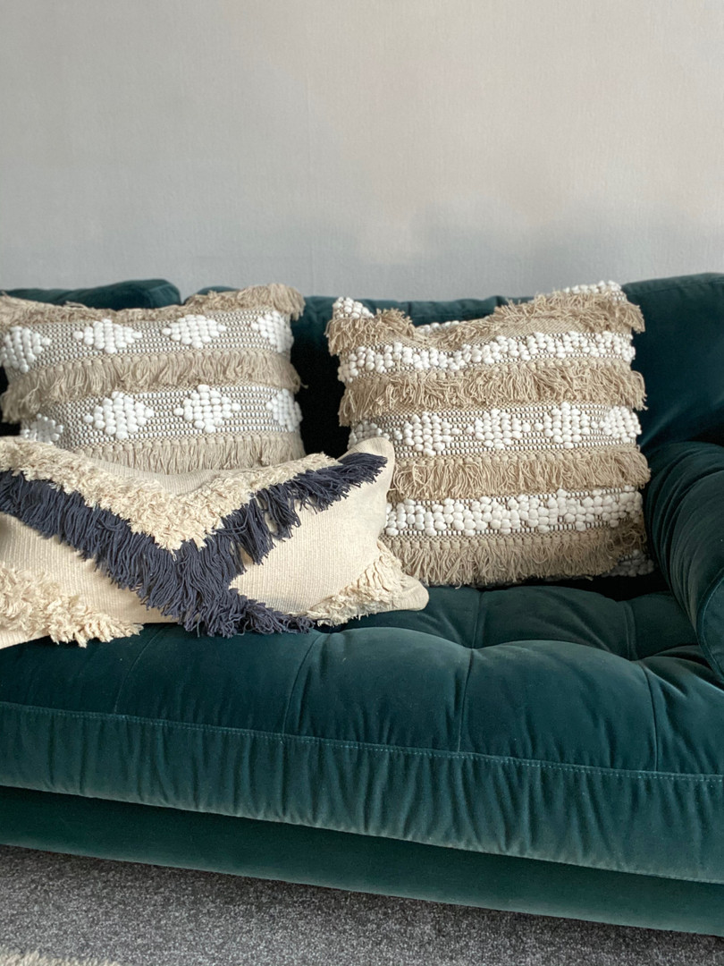 Grey Boho cushion