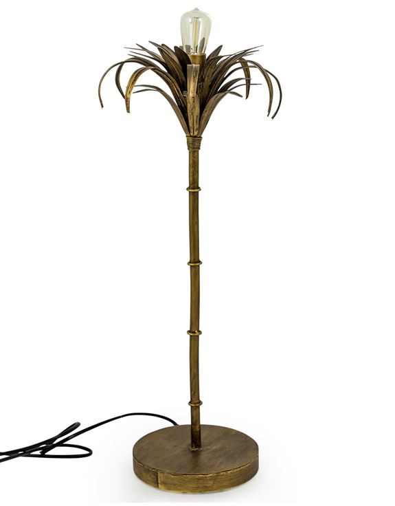 Quirky trendy home accessories, palm tree lamp