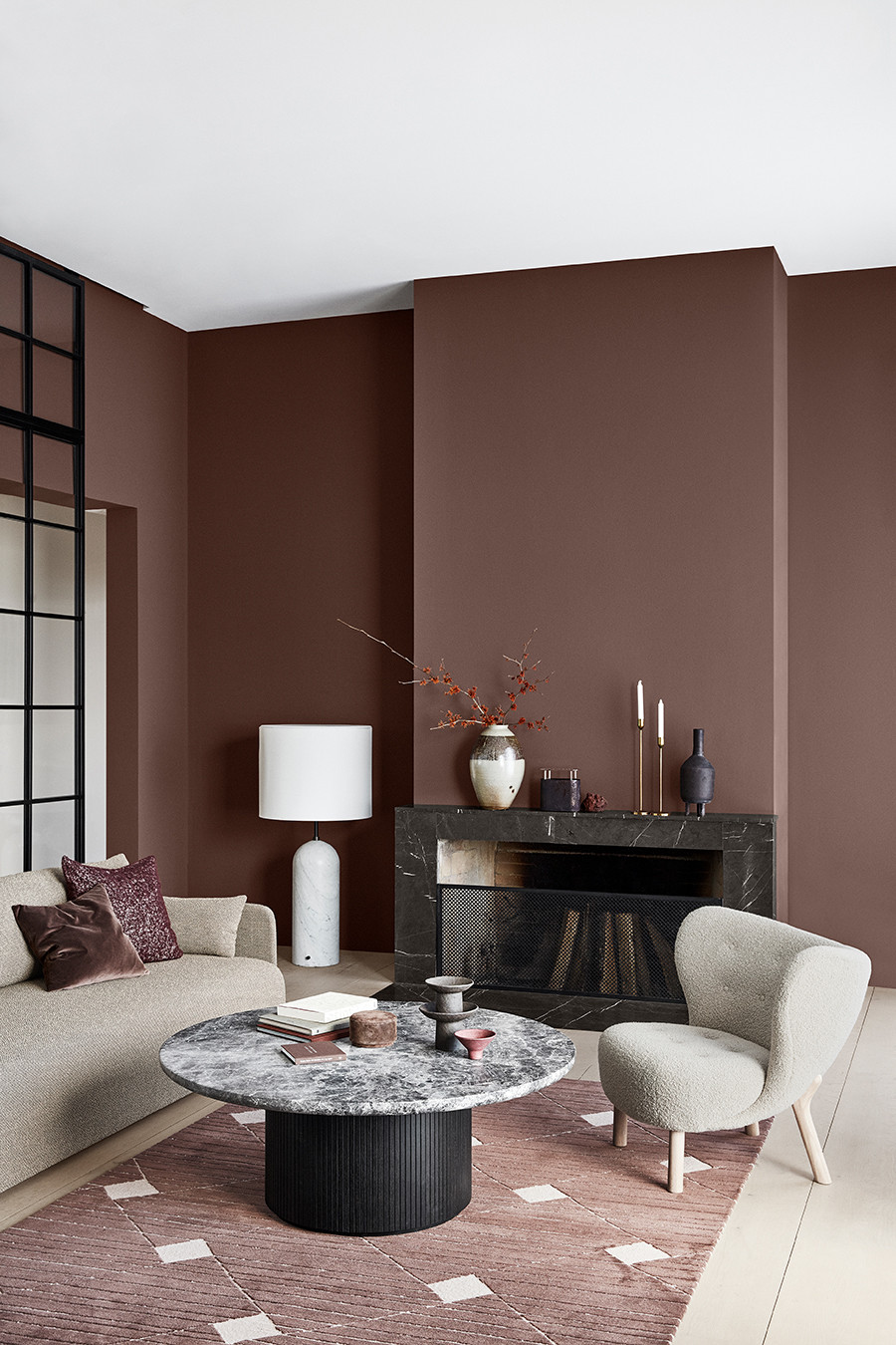 Living room decor inspiration, colour trend for 2020