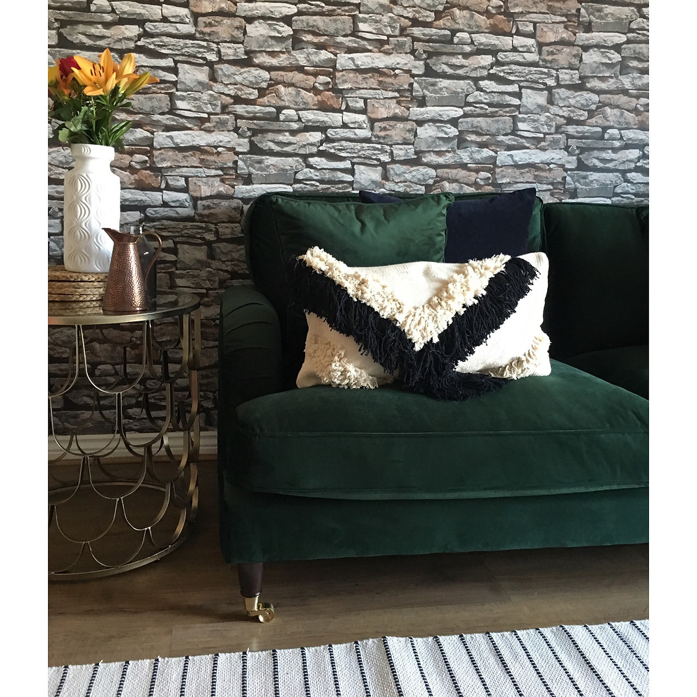 Tassel boho cushion, bohimian cushion black tassel cushion