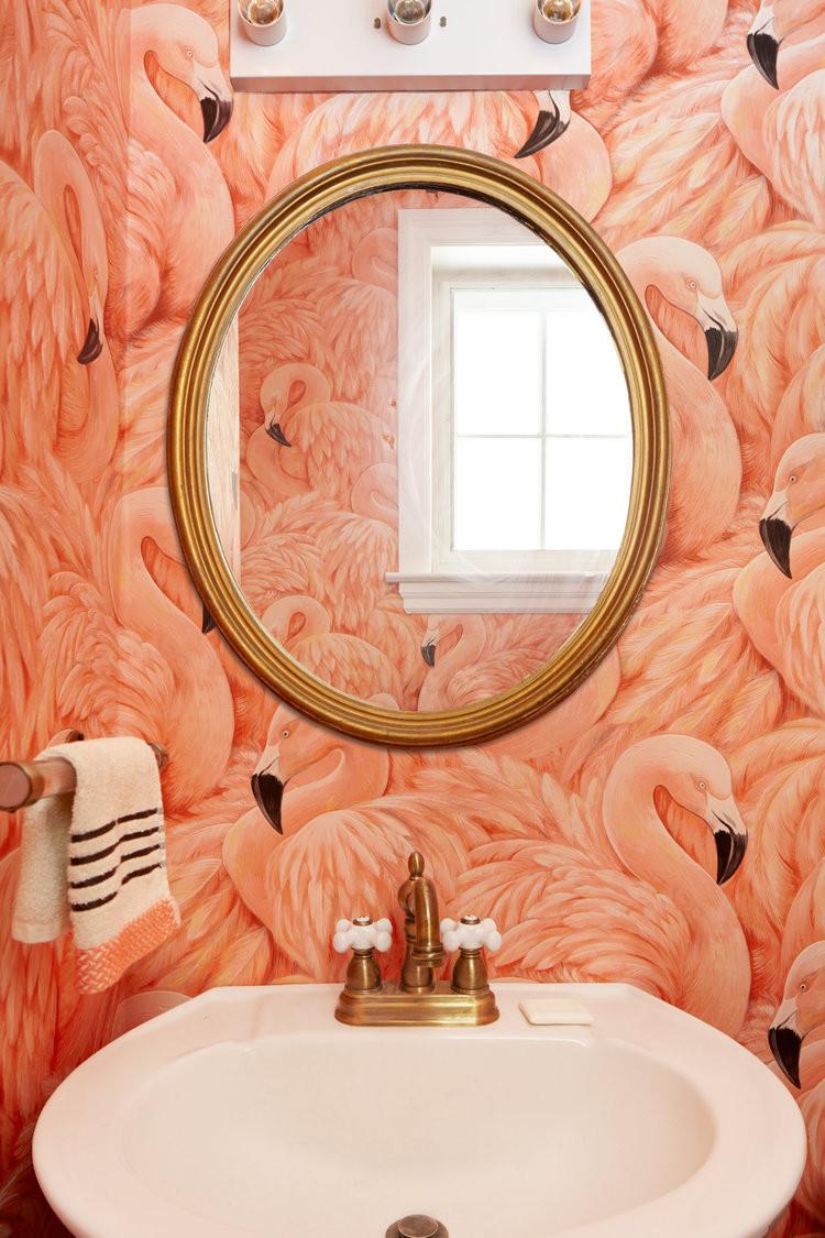 wallpaper decor, home decor, flamingo decor flamingo wallpaper