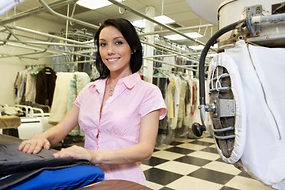 Quality dry cleaning with door-to-door pick up and delvery service.
