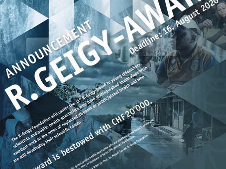 11th R. Geigy Award 2020: Call for Submission