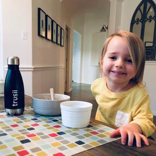 trusii, young girl drinking trusii