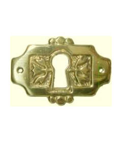 Cast Brass Eastlake Style Keyhole Cover Cabinet