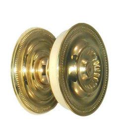 """Stamped Brass Sheraton Drawer Knob 1-5/8"""""""