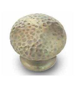 """Antique Hammered Bronze Knob 1 3/8"""""""