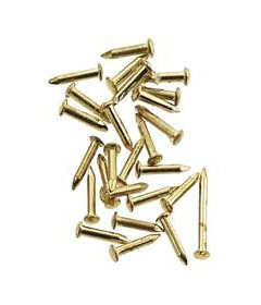 "Brass Flat Head Brad Nail - 1/2"" Long"