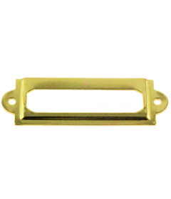 Small Brass Plated Label Holder - 2-3/8""