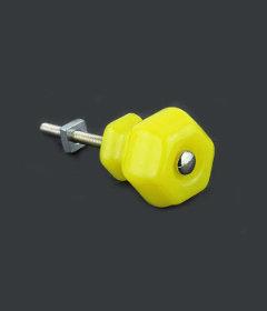 "Antique Depression Lemon Yellow Glass Drawer Knob 1-1/4"""