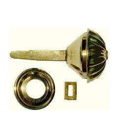 """Hollow Stamped Brass Spool Cabinet Knob 1-5/16"""""""