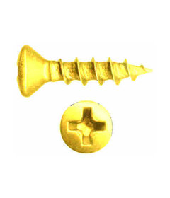 Brass Oval Head Coarse Thread Screw -5 X 5/8""